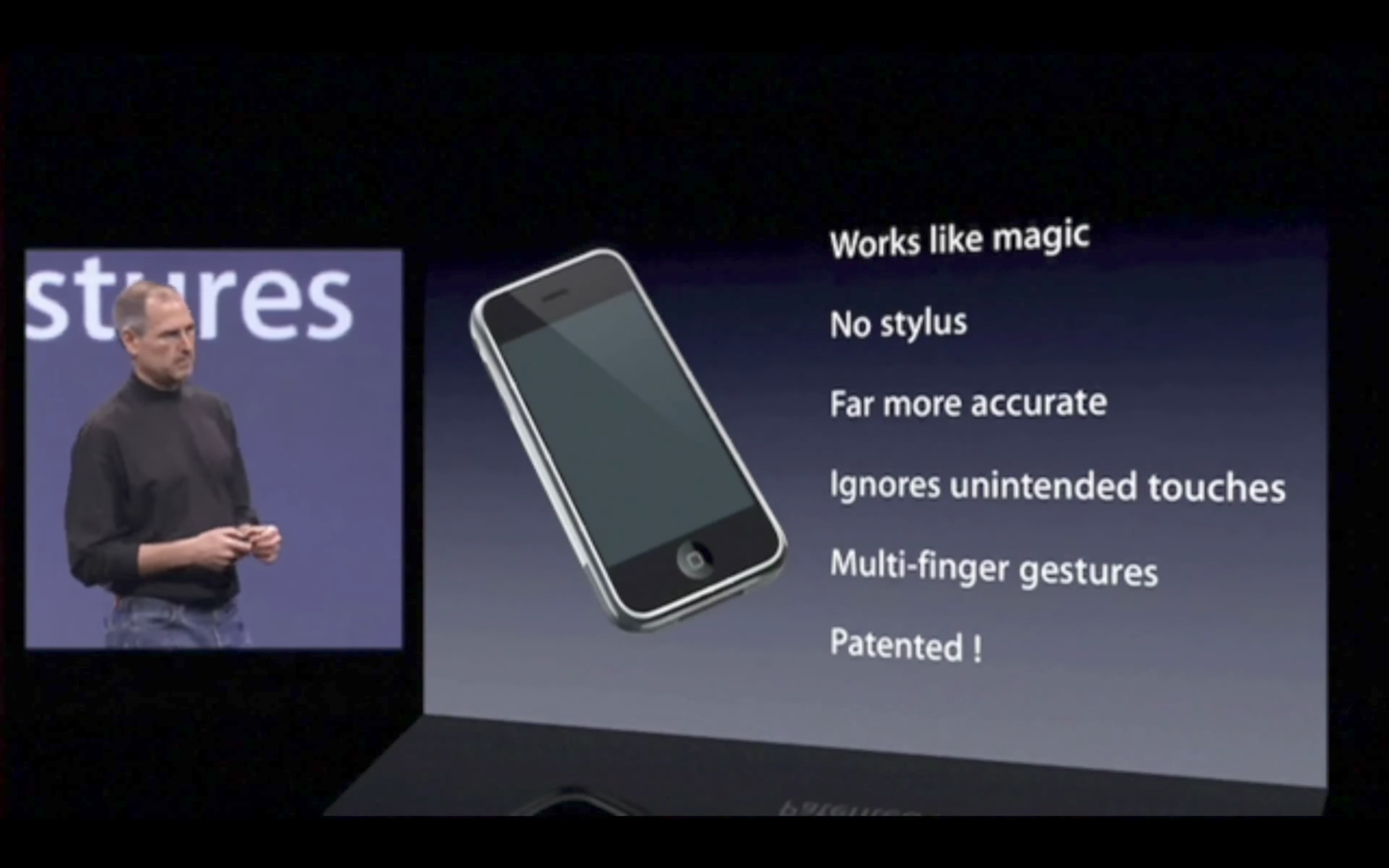 Original iPhone screen features