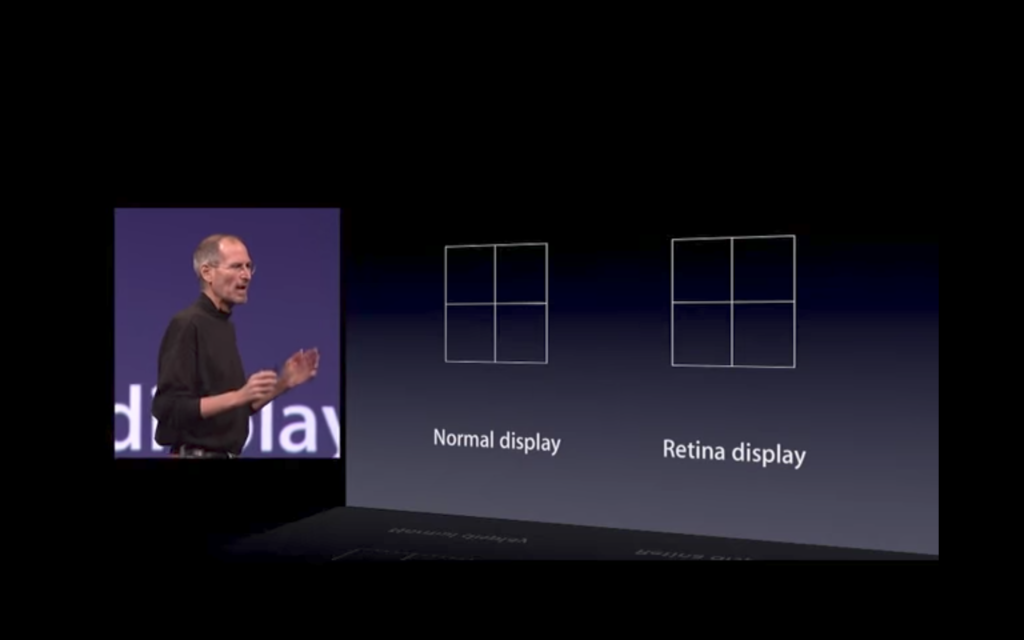 Steve Jobs Retina Display