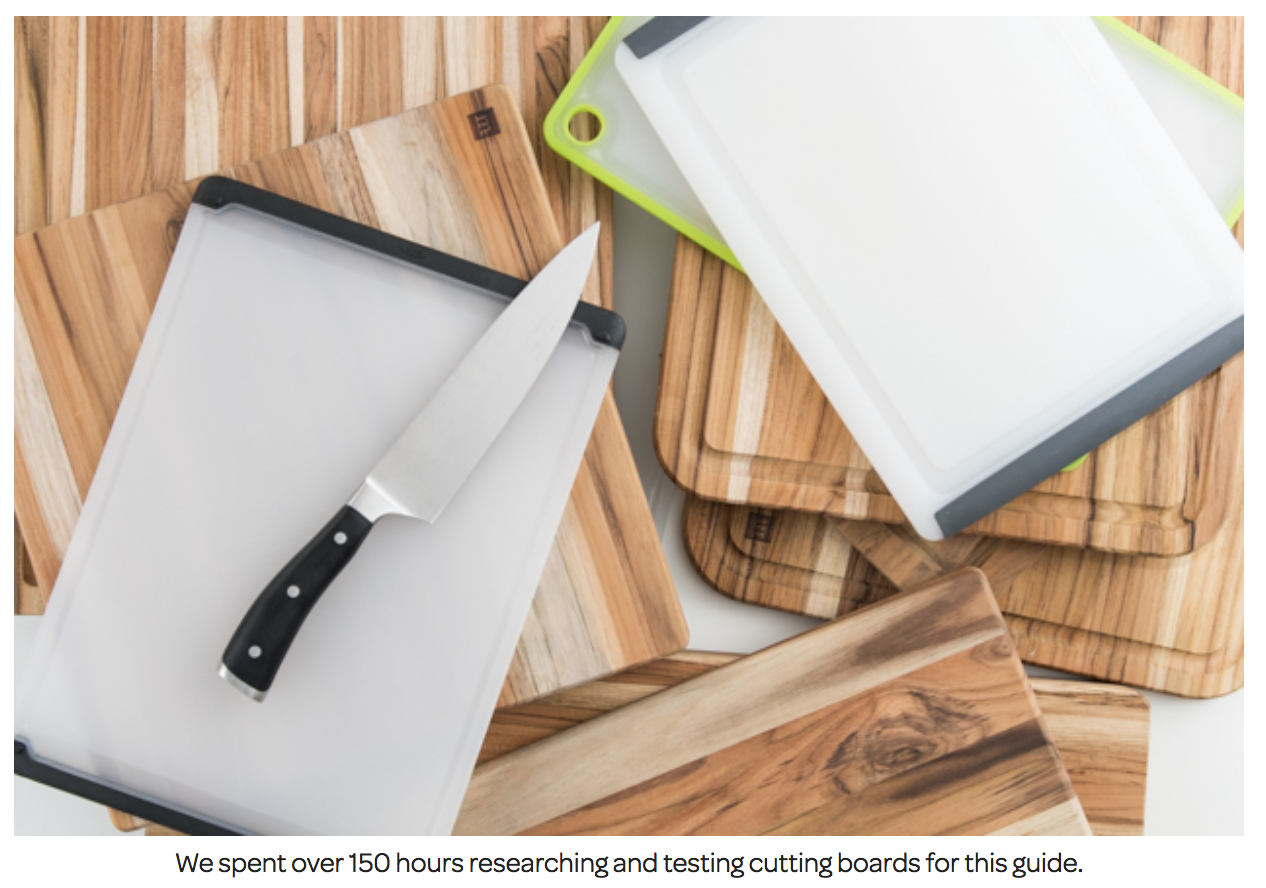 The Wirecutter cutting boards