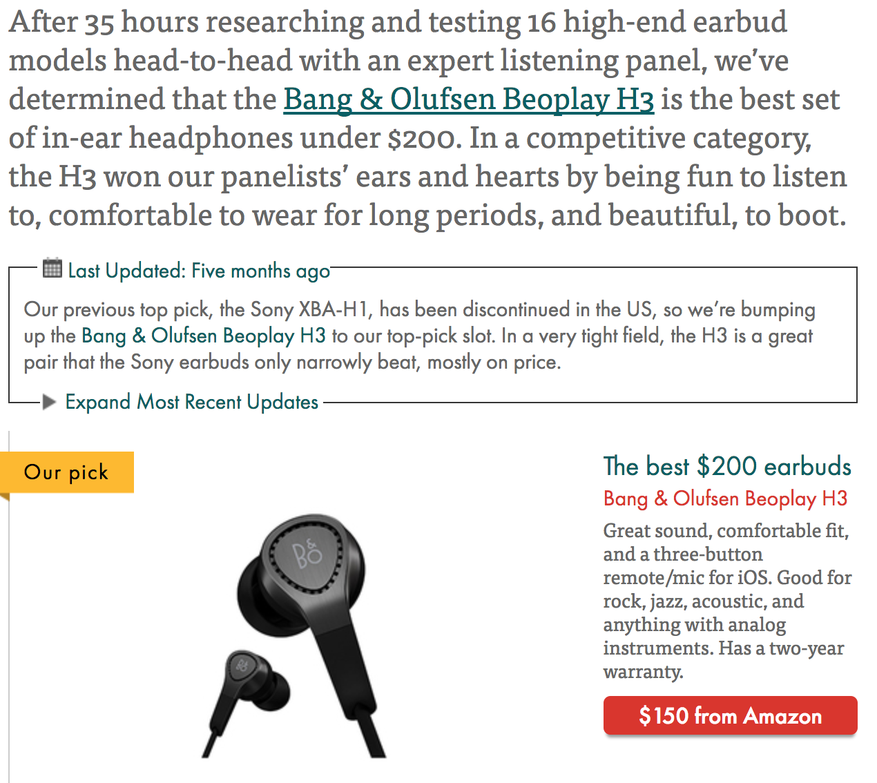 The Wirecutter earbuds