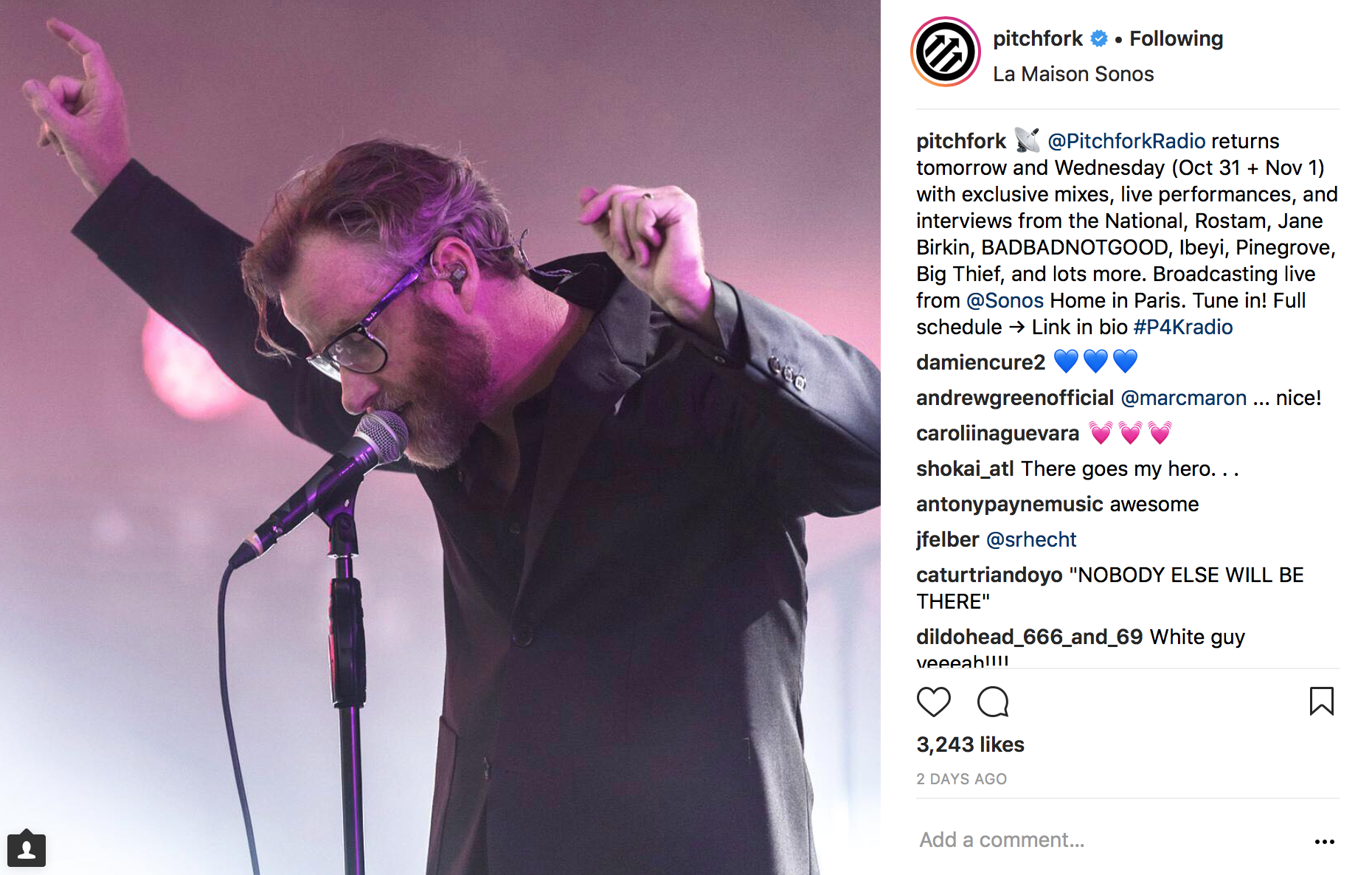 Pitchfork Instagram